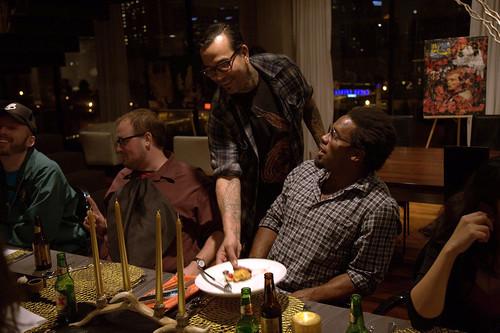 San Diego Dos Equis Dinner Dhani Jones Craig Thornton dinner