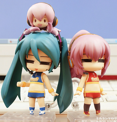 Miku and Luka were wearing Saber and Rin's cheerleader outfit