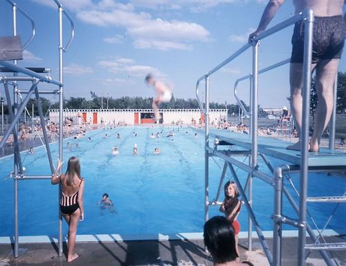 Piscine Taillon ou piscine Jarry, 10 juillet 1966