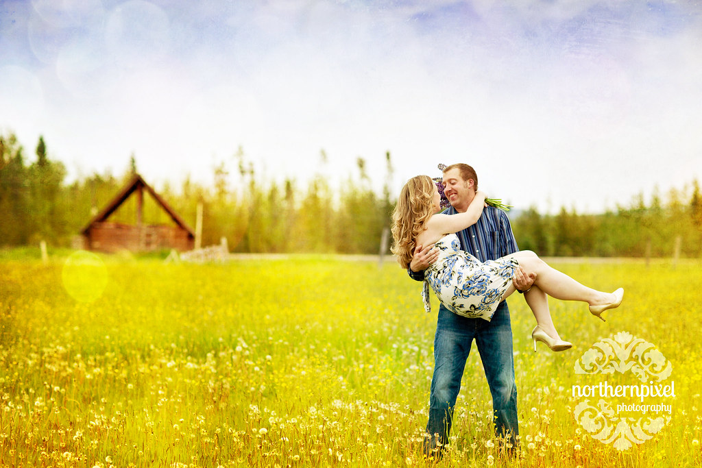 Prince George Engagement Session Field Farm Spring Jasper