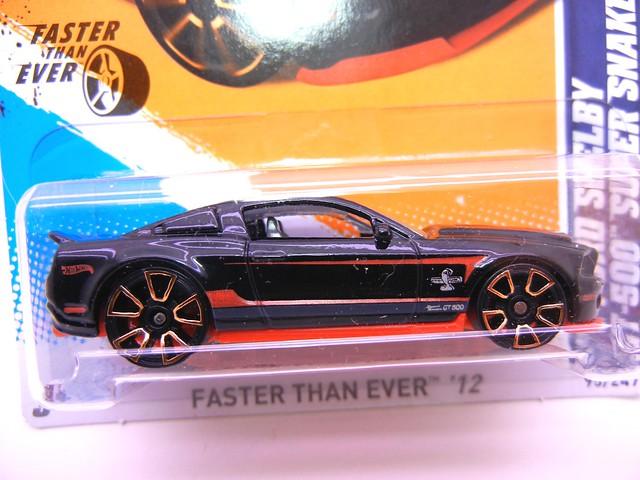 hot wheels '10 ford shelby gt-500 super snake black (2)