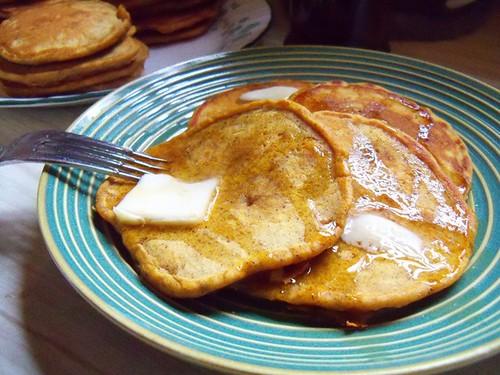 pumpkin pancake closeup