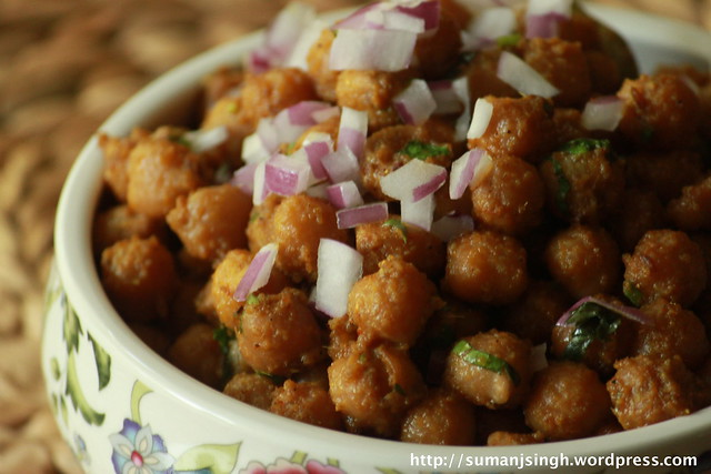 Pindi Channa/Chick peas saute in Indian spices