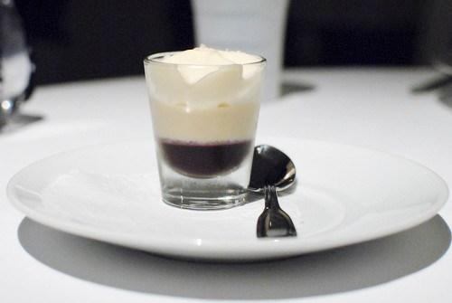 Foie Gras Royale Blackberry Gelee, Caramelized Buttermilk Mousse