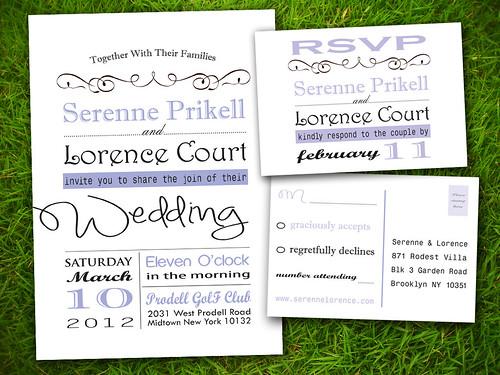 Classic Purple Pink Formal Old Fashioned Customizable Wedding Invitation Card - DIY Printable