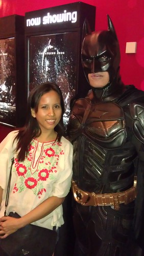 at The Dark Knight Rises movoe premiere
