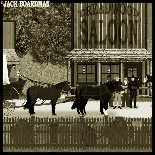 Randall Kidd outside the Dreadwood Saloon ©2012 Jack Boardman