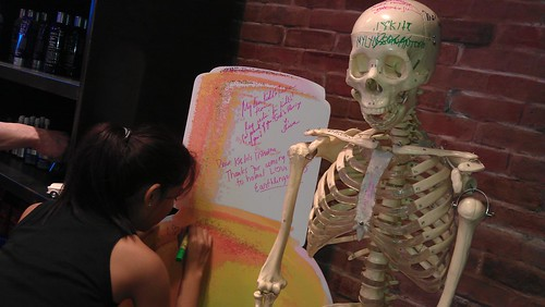 Mr. Bones and autograph wall