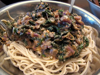 Soba Noodles and Peanut Kale Sauce