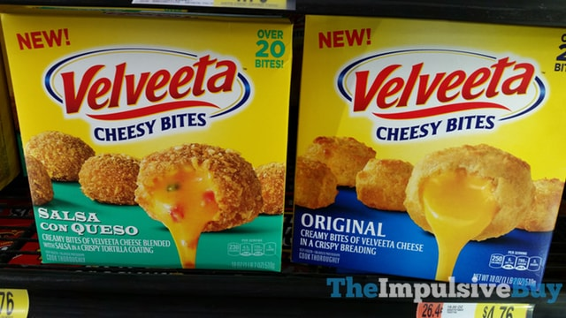 Velveeta Cheesy Bites (Original and Salsa con Queso)