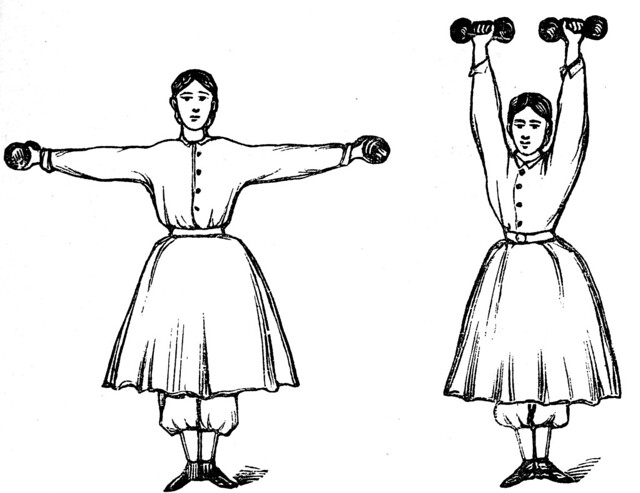 A manual of free gymnastic and dumb-bell exercises; for the school-room and the parlor (1864)