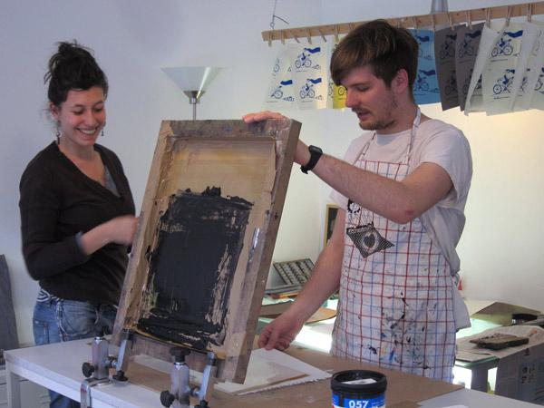 unser Siebdruckkurs in Berlin