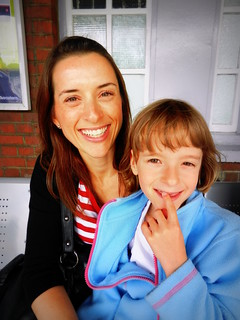 Auntie Kris & Millie at Bexleyheath station