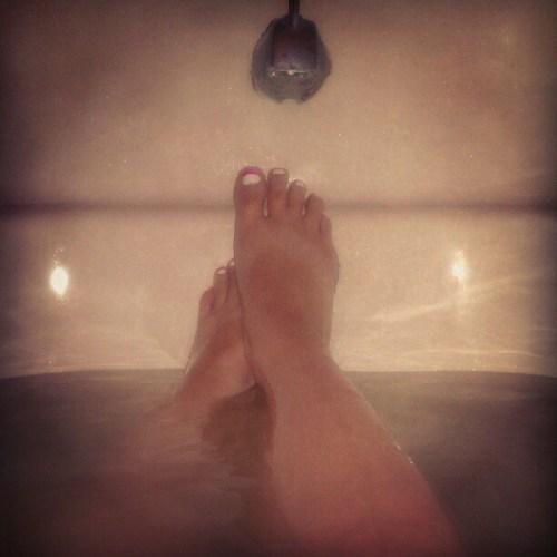 Enjoying an #Aveeno #Oatmeal bath