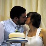 Cake cutting kiss