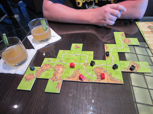 playing carcasonne