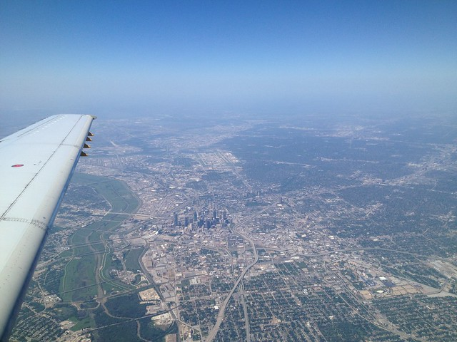 Dallas from the plane