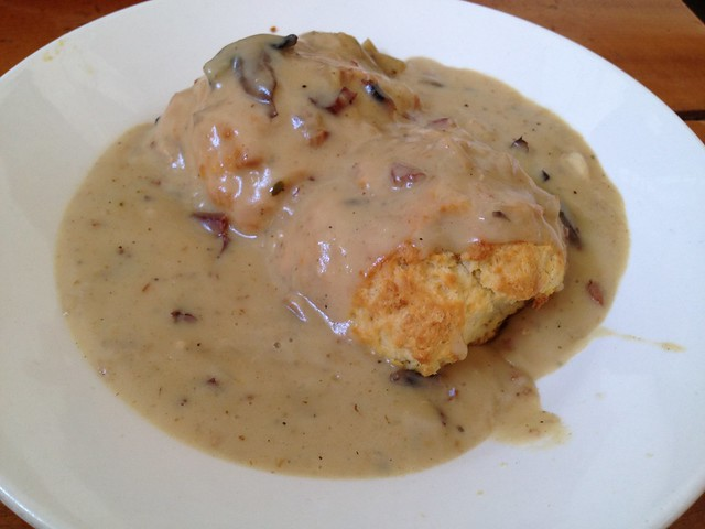 Biscuits and gravy - Mission Beach Cafe
