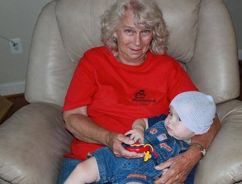 Sagan's 1st Birthday - Grandma and Sagan - Cropped