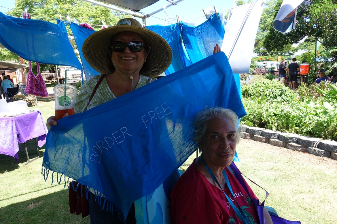 Pearl City, HI - Blue Scarf Event during Peace Day Hawaii 2016 (1)
