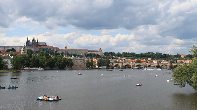 Boat invasion on the Vltava