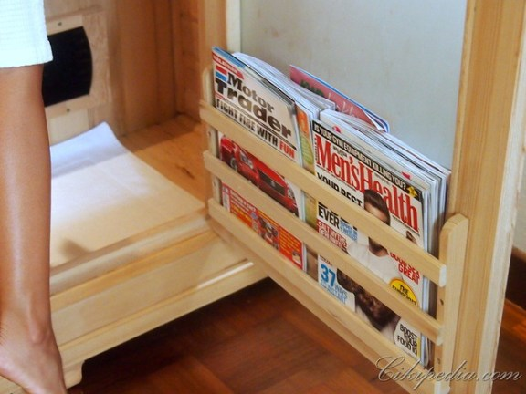 men's mags for the men. Lady's mags for then women sauna