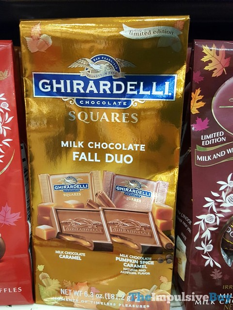 Limited Edition Ghirardelli Milk Chocolate Fall Duo Squares Caramel and Pumpkin Spice Caramel