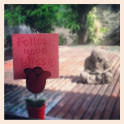 Follow Your Bliss (Advice from a Tulip© series) by creative_jen