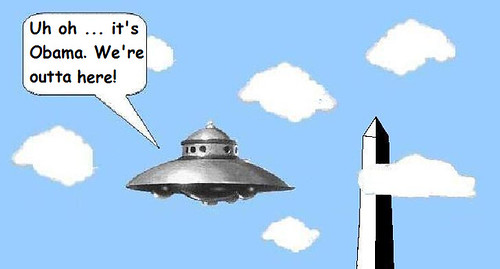 Obama Saves Earth from Space Alien Attack!