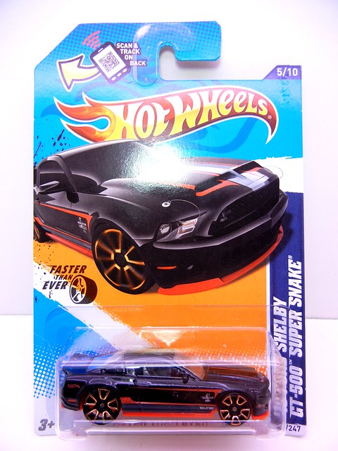 hot wheels '10 ford shelby gt-500 super snake black (1)