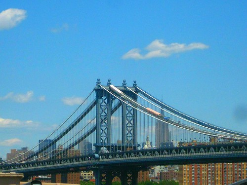 Manhattan Bridge as seen from the Brooklyn Bridge