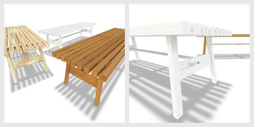 wait. (bench set) mesh