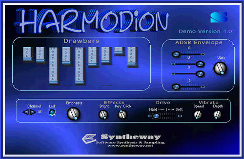 Harmodion: Virtual Drawbar organ, Reed organ, Harmonium, Accordion and Bandoneon VST Plugin Software by syntheway