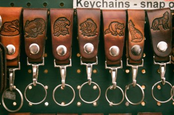 Clip-on keyrings
