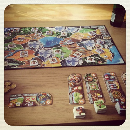 Playing Smallworld with husband and Big Girl. Inspired by @wilw and #tabletop