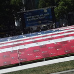 Red, White & Blue in Bryant Park