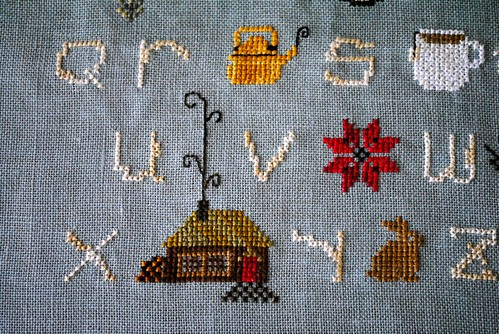 winter woods sampler detail