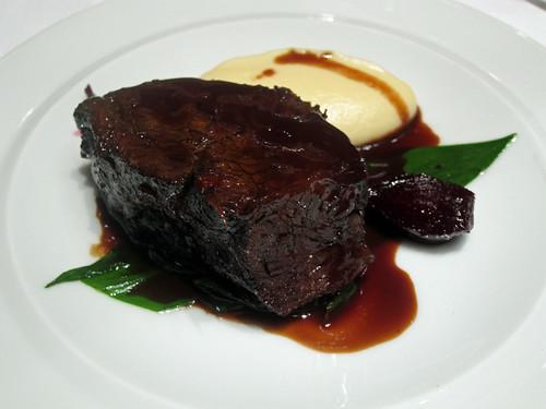 Braised Chilli Chocolate Beef Cheek with Celeriac Mash and Glazed Beetroot