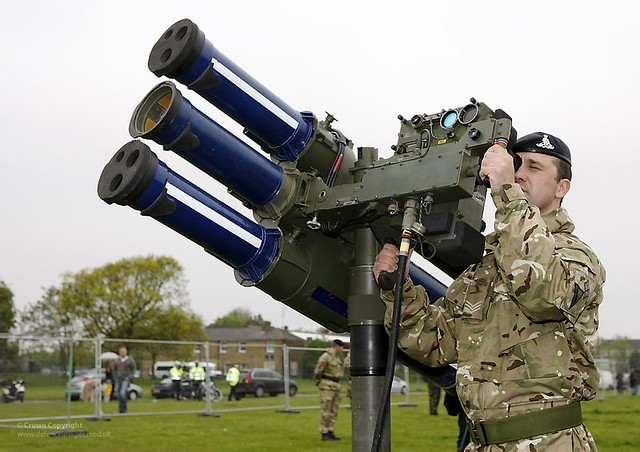 Soldier Mans Starstreak HVM High Velocity Missile System During Exercise Olympic Guardian for London 2012