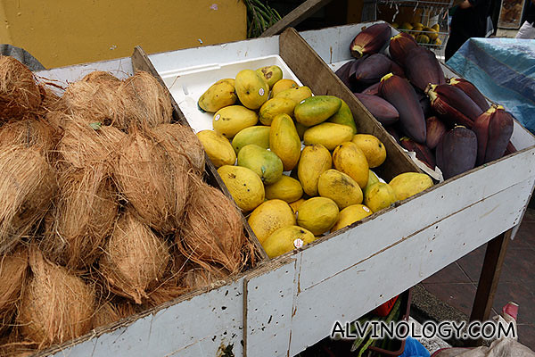 (L to R): Coconut, mango and banana flower