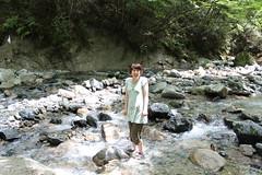 冷たい! 上流の道志川