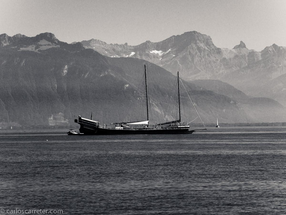 Navegación en el Lemán.