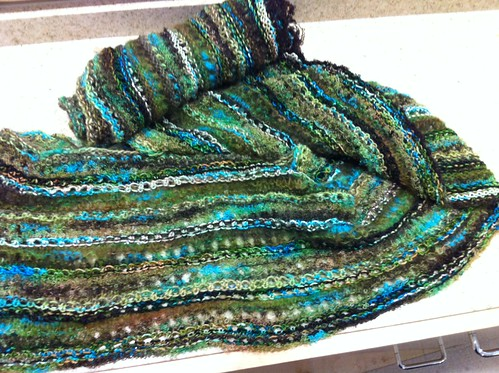 Eyelet Shawl, Stimulus Package yarn