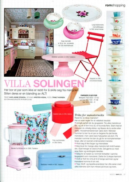 Featuring in Norwegian ROM 123 Magazine