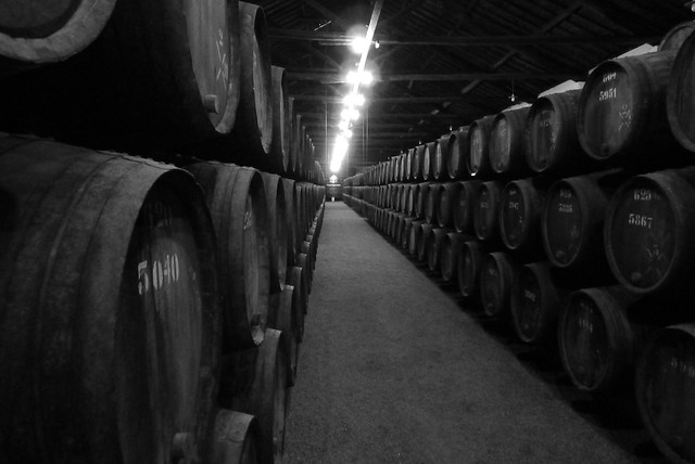 small casks as far as the eye can see