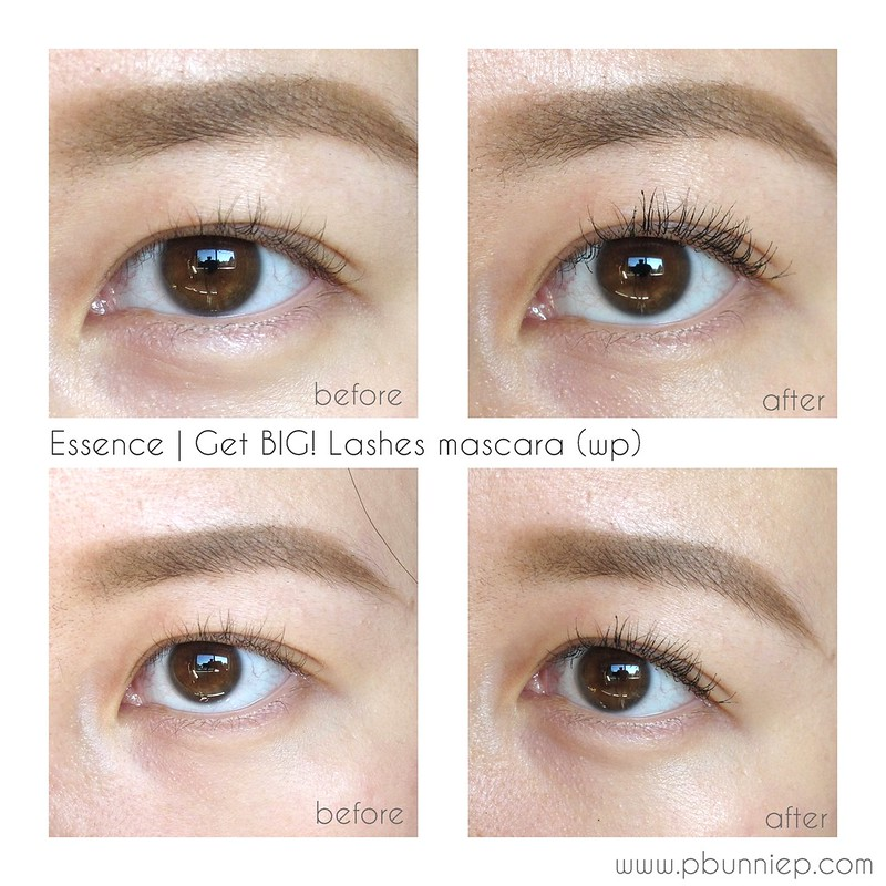 Essence Get big lashes mascara swatch