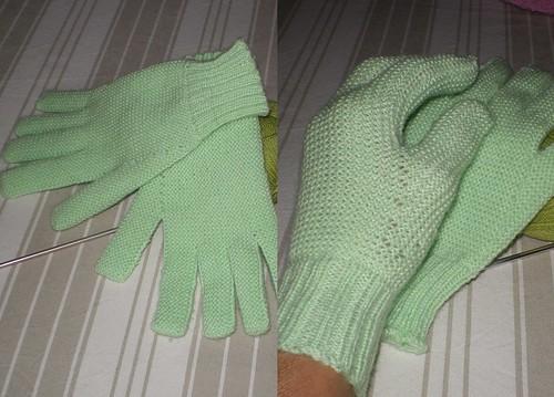 Tricot facile et rapide - Gants de laine pour adultes au point mousse (1/2)