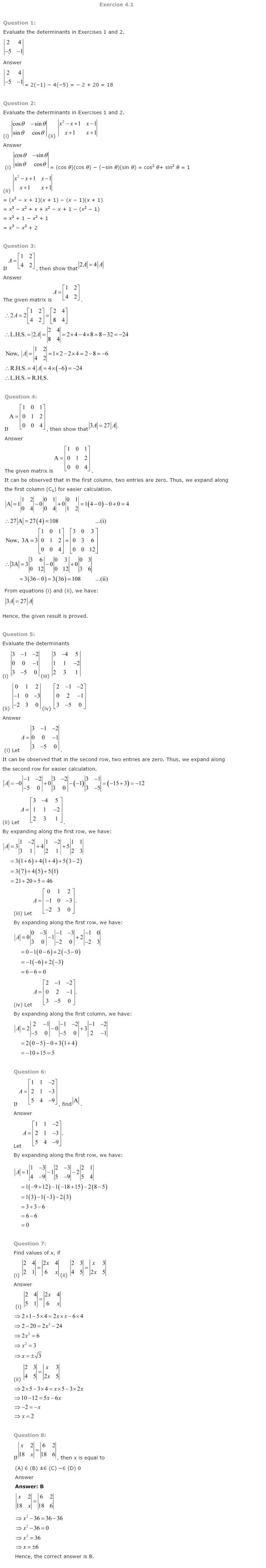 properties of determinants class 12 pdf