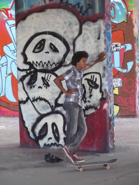 Solitary skater
