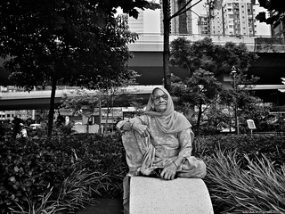 Indian Lady in the urban jungle